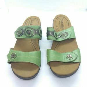 Cobb Hill Revlite Leather Slide Sandals Sz 10